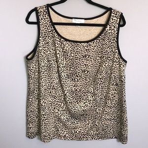 Dress Barn - Leopard Print Sleeveless Top. Size 1X
